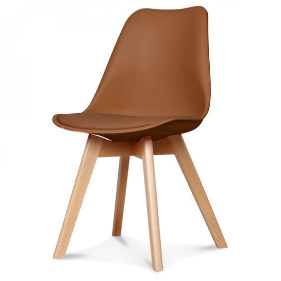 Chaise scandinave en cuir